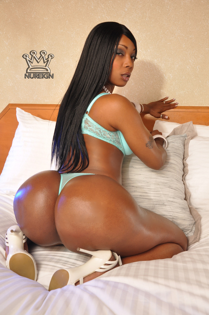 Huge round ebony ass