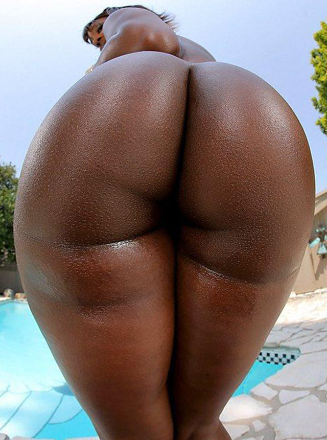 Big round black ass
